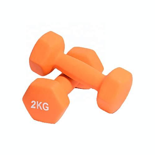 Fidusport Dumbbell Set Gusseisenkern Neopren 2er Set - 2x2KG - Mit freiem Gewicht Handgewicht Hanteln Gewichte...