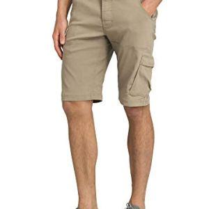 prAna – Men's Stretch Zion Lightweight, Water-Repellent Shorts for Hiking and Everyday Wear, 12″ Inseam, Dark Khaki, 32