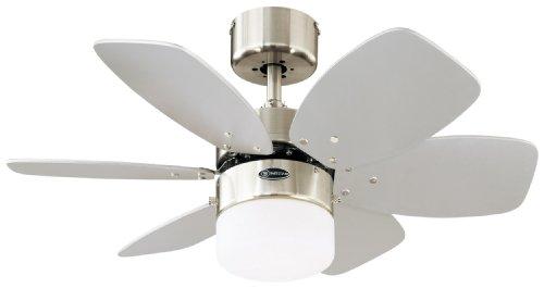 78788 Flora Royale One-Light 76 cm ventilatore a soffitto per interni a sei pale, finitura cromo...