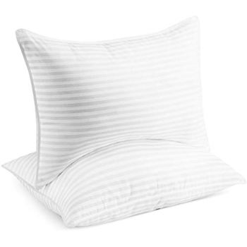 Beckham Hotel Collection Bed Pillows for Sleeping - Queen Size, Set of 2 - Soft Allergy Friendly, Cooling, Luxury Gel Pillow for Back, Stomach or Side Sleepers