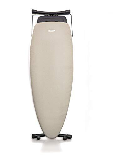 NAWA Home & Work - Asse da stiro Premium, superficie da stirare, 130 x 47 cm, forma ovale, per ferro da stiro o convenzionale