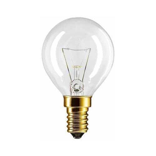 Philips Set di 2 lampadine per forno P45X78,40Watt, E14,trasparenti