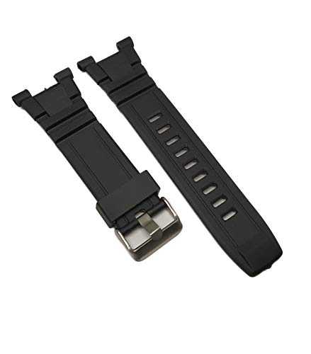 g24 Silicone Black Rubber Replacement for Armitron Watch Band Strap 8254 8309 40/8254 40/8309 & Others