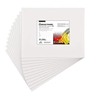 100 % COTTON CANVAS – Made from long-staple cotton with natural texture, higher tinting strength, and excellent touching sense. The cotton surface of the painting canvas doesn't shrink and is stable in every dimension. The cotton canvas holds paints ...