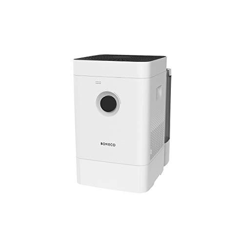 BONECO Hybrid Luftbefeuchter & Luftreiniger H400 - mit 3-in-1-Hybrid-System - extrem lange Laufzeit dank großem Wassertank, weiß