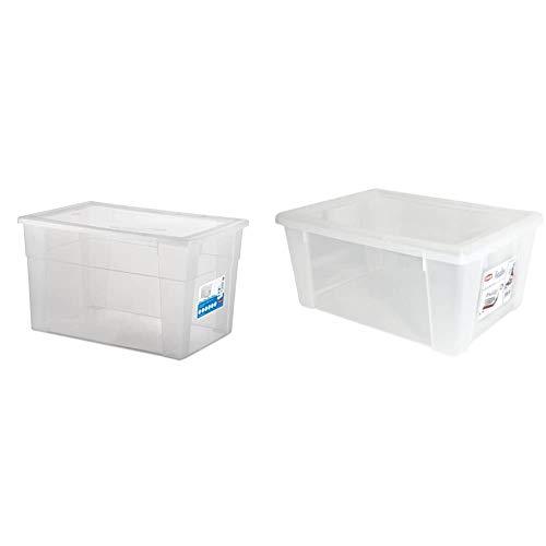 Stefanplast Visualbox Visual Box XXL Hight, Bianco, 60x40x35 cm & Visualbox Scatola Multiuso XL 39X29X17