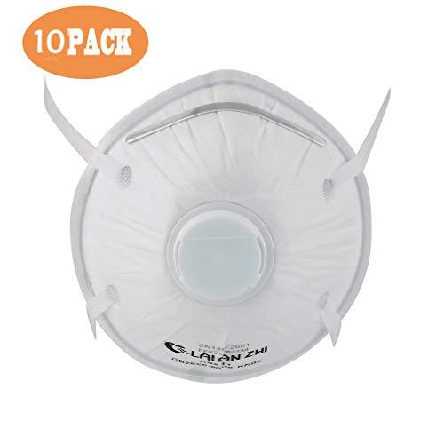 FFP2-Emily:(10pcs) mascherine ffp2 con valvola respiratoria(stile casuale),Maschera antipolvere Maschera,antipolvere equitazione Maschera