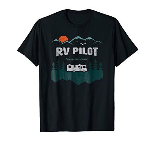 RV Pilot Camping Shirt Motorhome Travel Vacation Gift