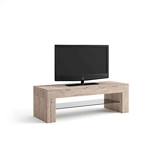 Mobilifiver Porta TV Evolution, Quercia, 112 x 40 x 36 cm, Nobilitato/Vetro, Made in Italy,...