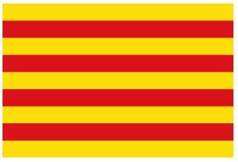 Jiahe Bandera Señera Cataluña Vermella amb Groga Mediana 60X90CM - Bandera Senyera Catalana Catalunya Roja con Amarilla