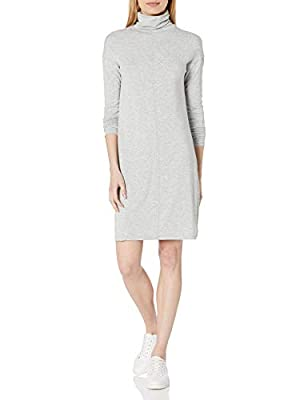This turtleneck dress updates a timeless silhouette with a seamed front and dropped shoulders for effortless style Made of Acrylic Rayon Jersey, this soft knit fabric drapes beautifully for a relaxed, comfortable fit Start every outfit with Daily Rit...