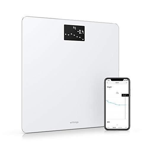 Withings Body - Balance Connectée Wifi & Bluetooth Avec Mesure Du Poids Et De L'imc, Pèse Personne Impédancemètre Multi-Utilisateurs