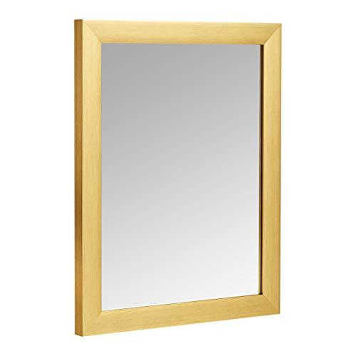 Amazon Basics Rectangular Wall Mirror 16' x 20' - Standard Trim, Brass