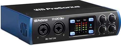 PreSonus Studio 26c 2x4, 192 kHz, USB-C Audio Interface, 2 Mic Pres, 4 Output