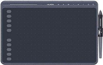 HUION Tablette Graphique HS611(Bleu étoilé) Tablettes à Stylet avec Fonction d'inclinaison Stylet sans Pile et Barre multimédia 10 Touches Express Barre multimédia pour Android, Windows et Mac OS