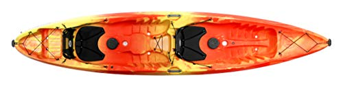 Perception Tribe 13.5 Sit on Top Tandem Kayak for All-Around Fun Large Rear Storage with Tie Downs