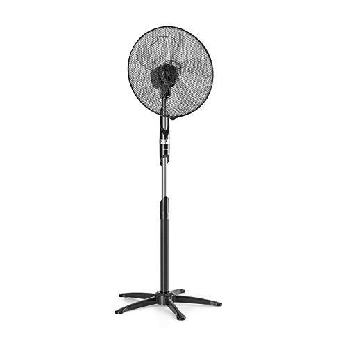"""Klarstein Summer Vibe - Standventilator Ventilator Standlüfter, 16\"""" Rotor (41 cm) mit 5 Flügeln, 55 W, 3 Windgeschwindigkeiten, Luftdurchsatz: 2040 m³/h, Oszillation: 65°, Rotorkopf 30°, schwarz"""