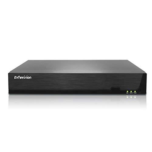 Evtevision Grabador de vídeo en red 4K de 32 canales, CCTV NVR, protocolo Onvif, compatible con acceso remoto a la nube P2P, grabación por detección de movimiento, salida 4K (sin disco duro)