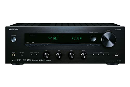 Onkyo TX-8270(B) Stereo Receiver (Bluetooth, WLAN, Musik-Streaming, Spotify, Deezer U.A., Internetradio, Multiroom (Flareconnect), DAB+ und UKW Radio, Stereo-Verstärker mit 160W/Kanal), Schwarz