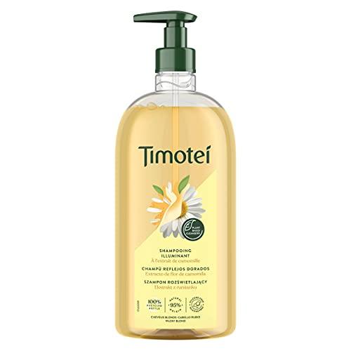 TIMOTEI champú reflejos dorados cabello rubio dosificador 750 ml