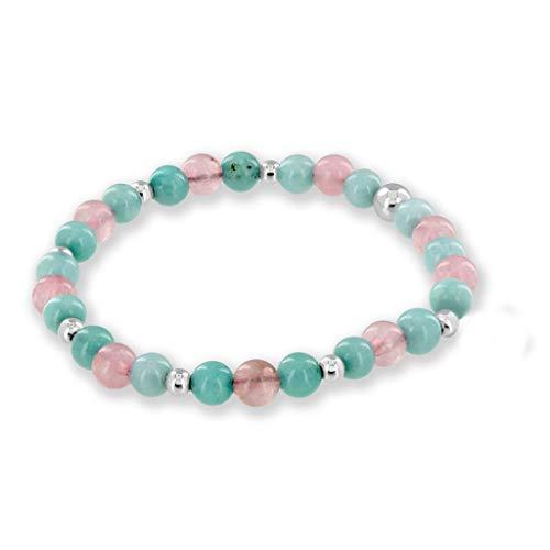 Believe London Aquamarine & Morganite Gemstone Bracelet...