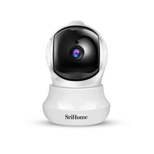 Telecamera Wi-Fi Interno FHD 1296P, SriHome Telecamera IP Senza Fili di Sicurezza Domestica HD Wifi con Visione Notturna, Pan/Tilt,Monitor di Sorveglianza Interna per Animali Domestici, Bambini