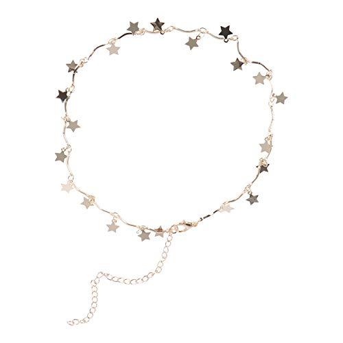 FENICAL Collar de gargantilla de mujer Collar de estrella af