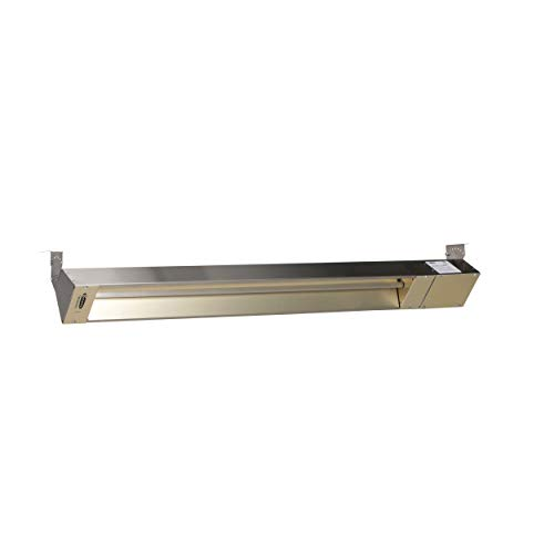 TPI Corporation OCH46-120V-SSE Fostoria Quartz Electric Infrared Heater – Outdoor/Indoor Rated, Stainless Steel Housing, 1500W, 120V, Overhead Heating Equipment