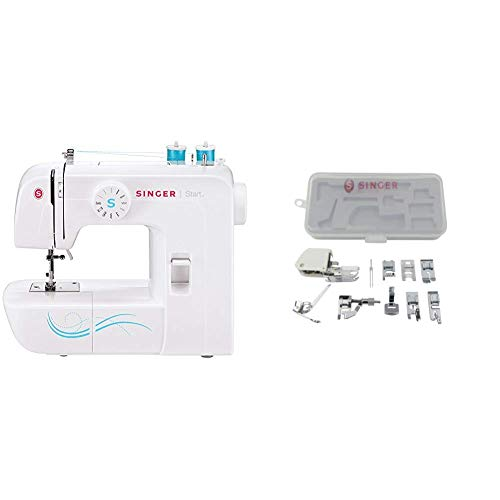 SINGER | Start 1304 Sewing Machine with Accessory Kit, Including 9 Presser Feet, Twin Needle, and Case