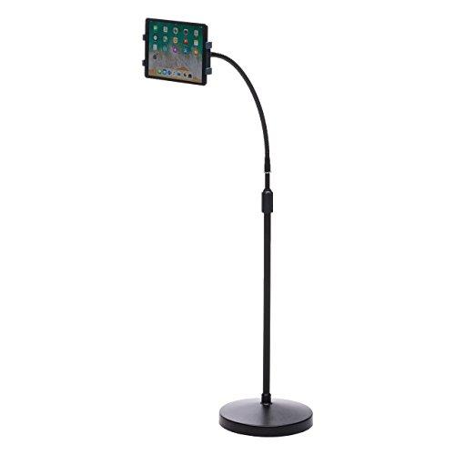 サンワダイレクト iPad タブレット フロアスタンド 高さ133~185cm 7.9~13インチ対応 高さ調節 角度調節 ...