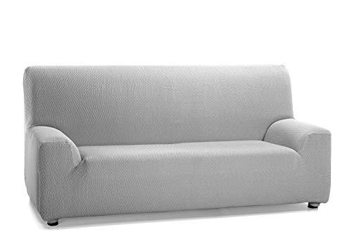 Martina Home Tunez - Copridivano elasticizzato per divano, grigio (Alma), 4 posti (240-270 cm)