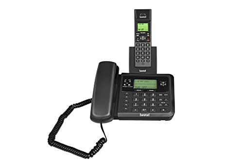 Beetel X78 Cordless and Corded Combo Landline Phone (Black)