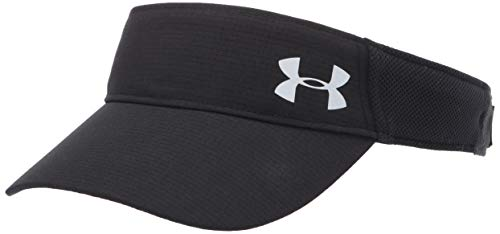 Under Armour Women's Launch Run Visor , Black (1)/Silver Reflective , One Size Fits All