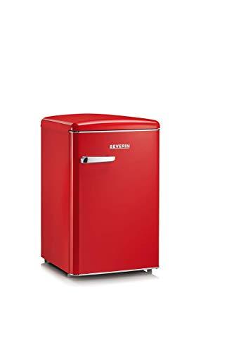 Severin RKS 8830, Frigorifero - Congelatore 106 Litri, Design Retr, Colore Rosso