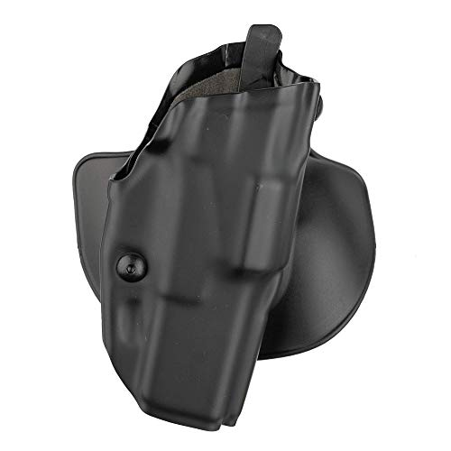 Safariland 6378 ALS, Paddle & Belt Slide Holster, Glock 34, 35, Plain Black, Right Hand, Black - STX Plain (1139729)