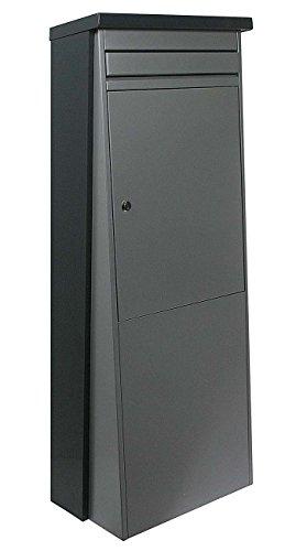 SafePost Eurotrend No.1 großer Standbriefkasten anthrazit & silbergrau 100 x 35,5 cm Briefkasten 901155