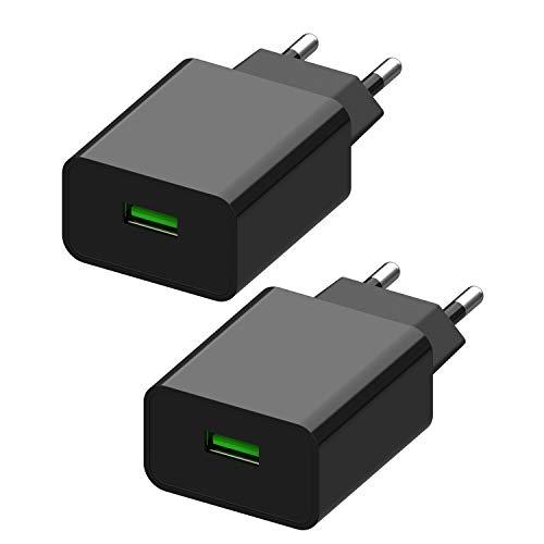 2 Pezzi Caricatore USB Quick Charge 3.0,...