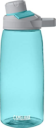 CamelBak Chute Mag Water Bottle - BPA-Free Water Bottle - Magnetic Handle - Ergonomic Spout - Wide Mouth Opening - Water Bottle - Easy to Carry Handle - 0.4 to 1.5 Liters, Sea Glass (1513402001)