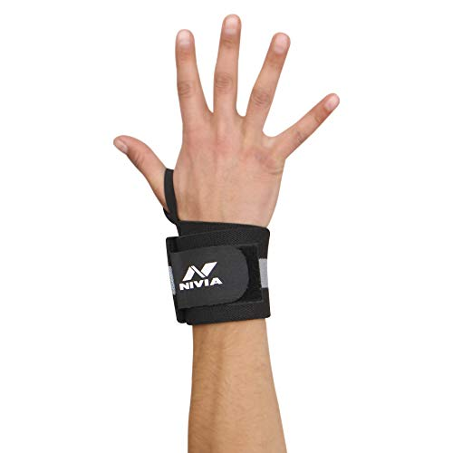Nivia 11041 Cotton Thumb Wrist Support (Grey)