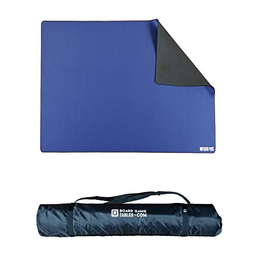 Board Game Playmat [5' x 3'/Thick Super Cushioned/Stitched Edge/Water Resistant/Blue] with Carrying Case - for Tabletop Board Games, Card Games, RPG Games