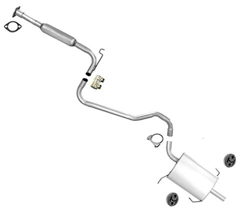 Exhaust System Middle Resonator & Muffler for Nissan Altima 2.4L 2001