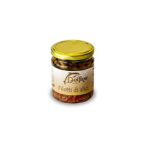 Filetti di alici in olio di semi di girasole 180g