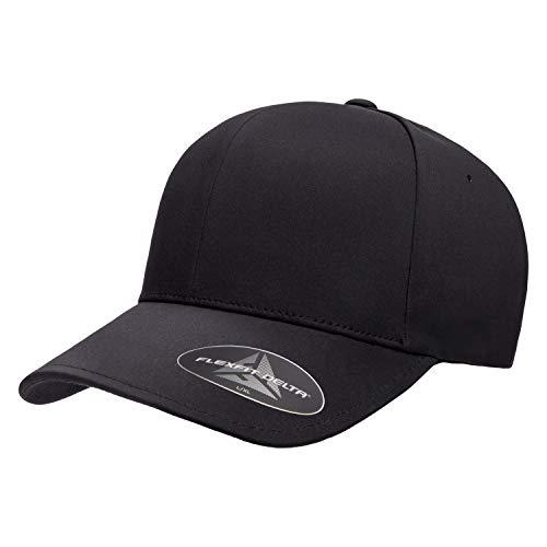 Flexfit Men's Delta Seamless Cap, Black, S/M
