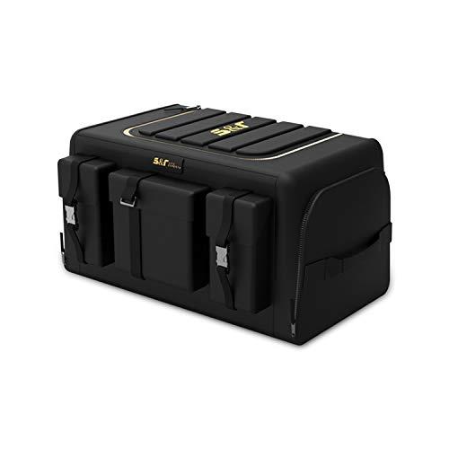 Ergocar Organizzatore per Auto Oxford Bagagliaio Multifunzionale Auto Organizer con Multi Tasca Organizzatore di Immagazzinaggio per SUV/Auto/Camion (Nero, 50L con Tasche Laterali)