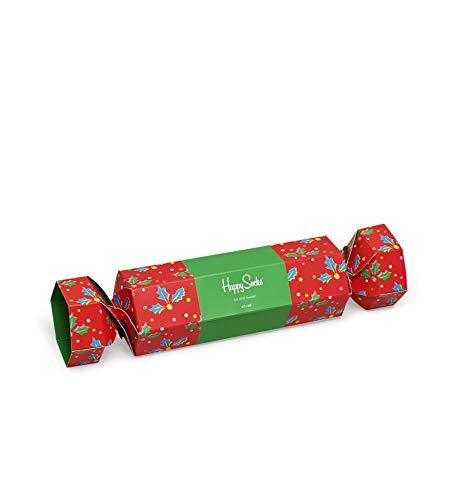 Happy Socks Christmas Cracker Holly Gift Box, Calzini Donna, Multicolore (Multicolour 430), 36/40 IT
