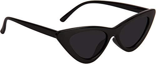 NuVew UV Protected Cat eye Sunglasses For Women - (Black Lens | Black Frame | Medium)