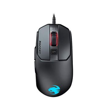 ROCCAT Kain 120 AIMO Souris Gaming RGB (nouveau capteur optique Owl-Eye 16.000 dpi, poids très léger de 89g, technologie Titan Click) noire