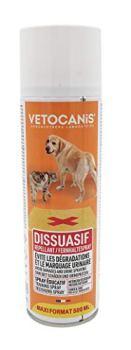 VETOCANIS Spray Dissuasif , Spray Repoussant pour Intérieur et Extérieur, pour chien et chat, 500ml