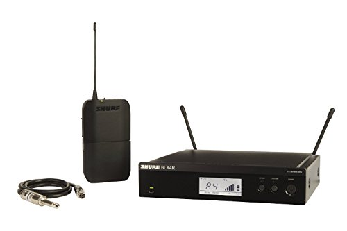 Shure BLX14R Rack Mount Wireless System with Bodypack and WA302 Instrument Cable for Guitar/Bass