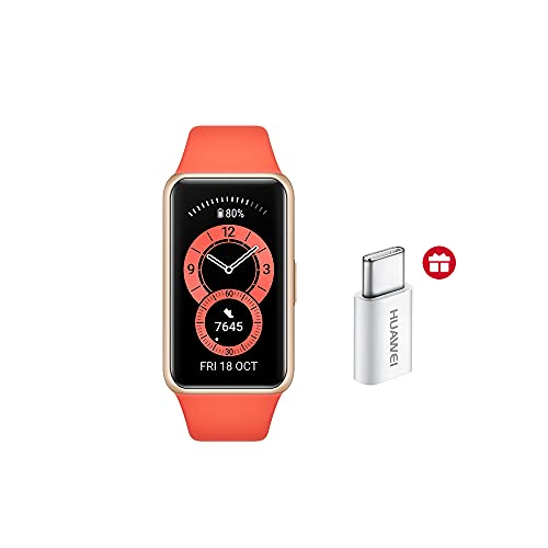 HUAWEI Band 6 Reloj Inteligente Deportivo + Adaptador Tipo C,...